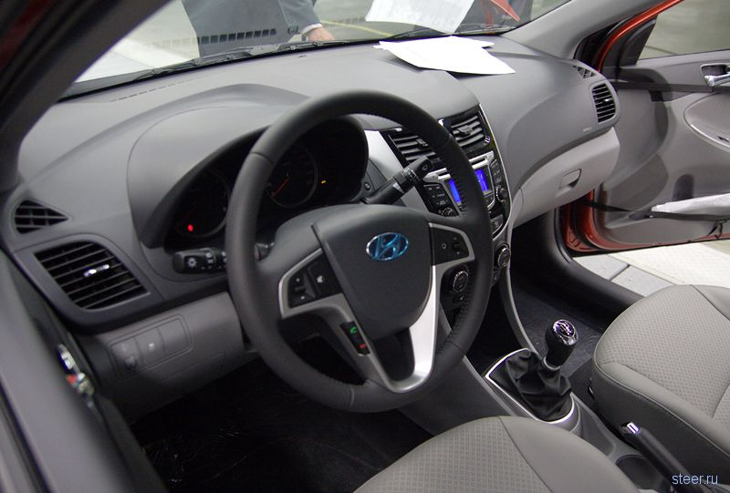 Фото интерьера народного седана Hyundai Solaris (фото)