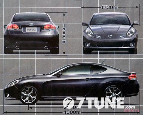 совместный спорт-кар Toyota и Subaru