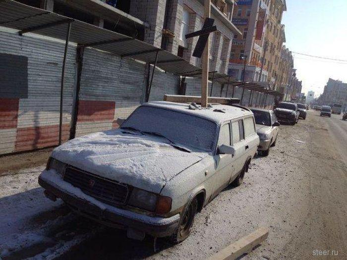 Оставил машину у стройки (фото)