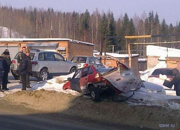 Пьяный водитель делал кабриолет из девятки (фото)
