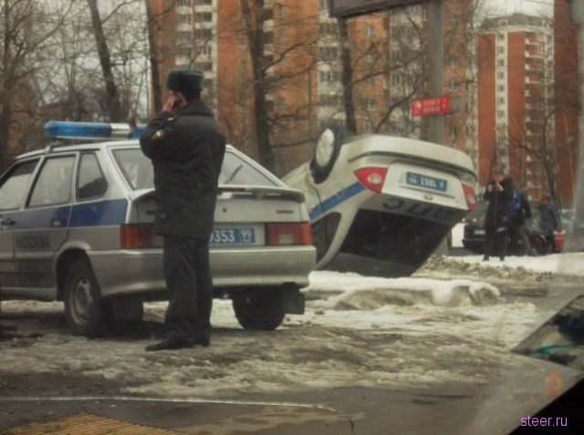 ДТП на Дмитровском шоссе с участием машины ДПС (фото и видео)