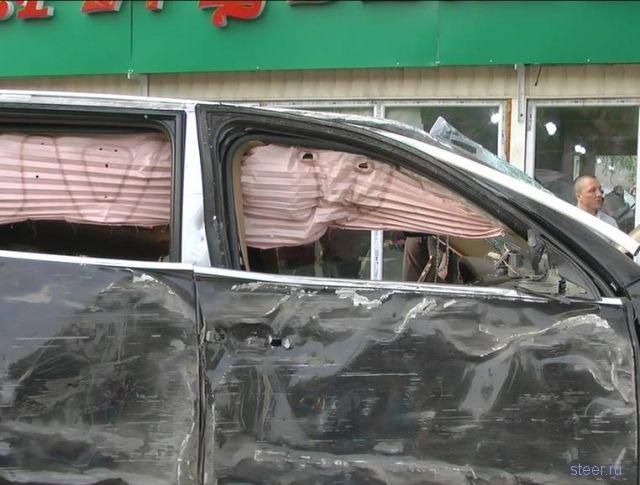 Подбила Cayenne (фото и видео)