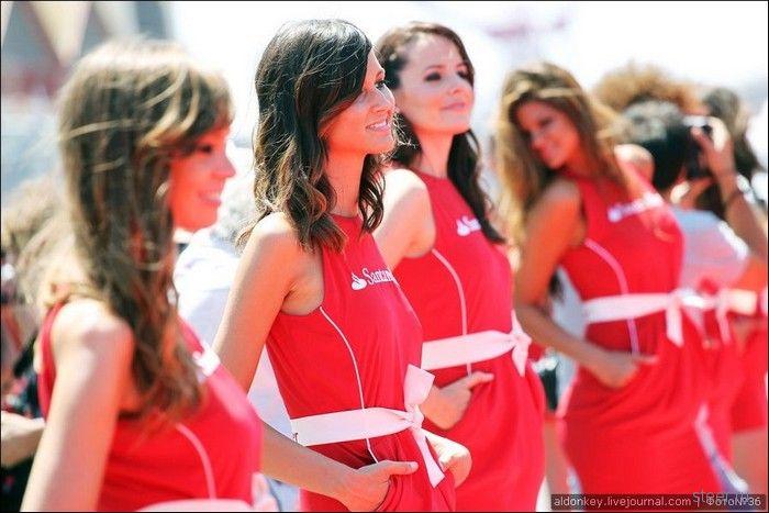 Девушки с гран-при Европы Формула-1