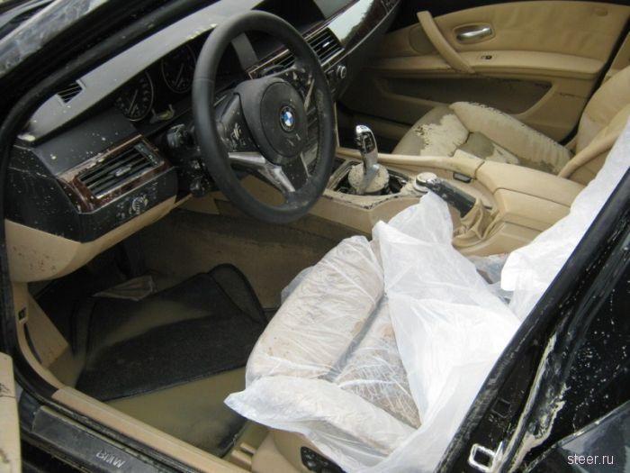 Машина после наводнения (фото)