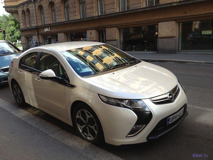 Opel Ampera сфотографировали в Хельсинки (фото)