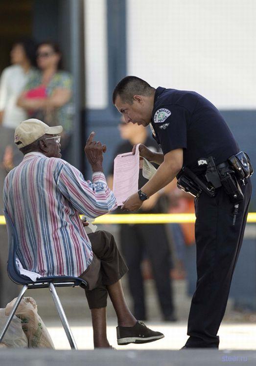 100-летний лихач сбил 11 человек в США (фото)