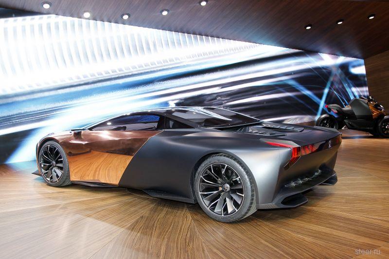 Концепт новейшего супер-кара Peugeot Onyx официально представлен в Париже