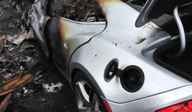 16 новых автомобилей Fisker Carma были уничтожены в Нью-Джерси в результате урагана Сэнди.