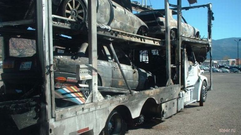 Заряженные спорткары, сгоревшие дотла