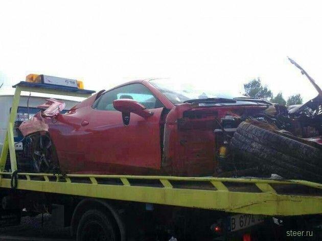 Недолгая жизнь одной из Ferrari 458 Spider
