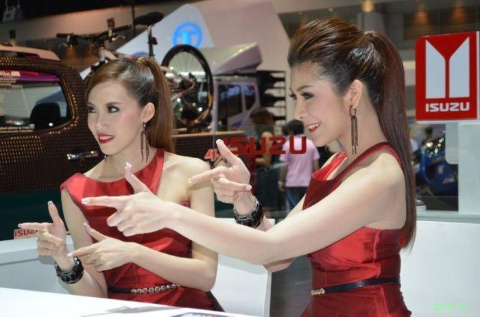 Девушки Мотор Экспо 2012 в Тайланде