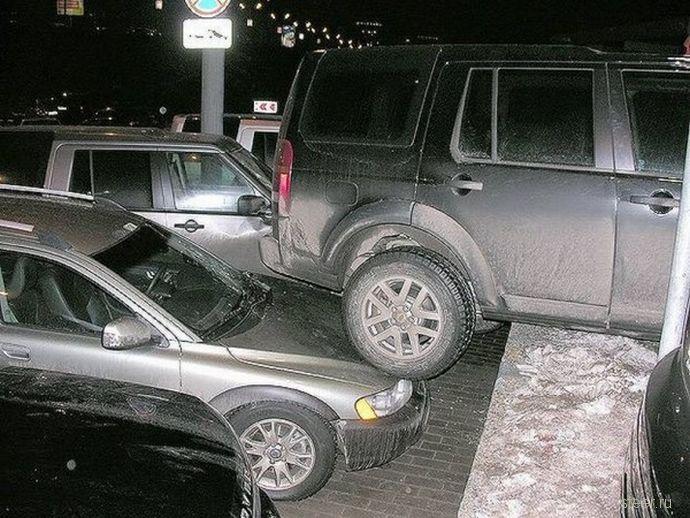 Хорошо припарковалась.