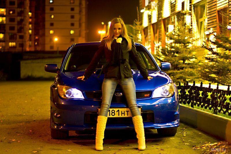 Шикарные модели на фоне шикарных авто