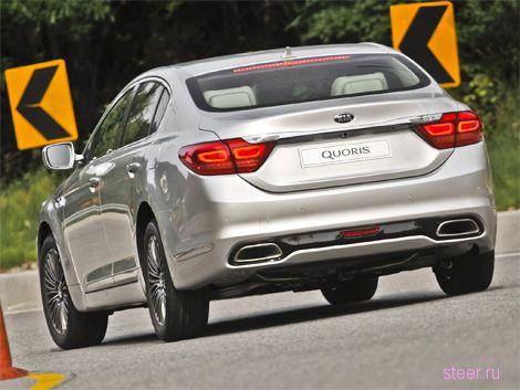 Флагман Kia Quoris оказался в полтора раза дешевле семерки BMW