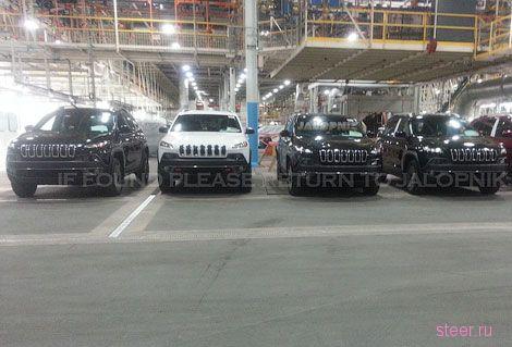 Появились первые фотографии нового Jeep Cherokee