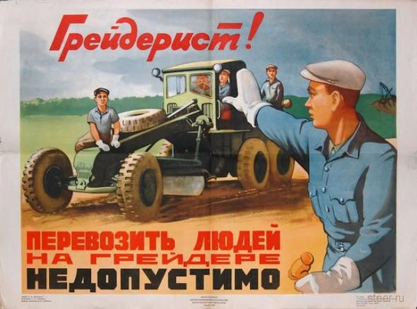 Ретро-плакаты по ПДД