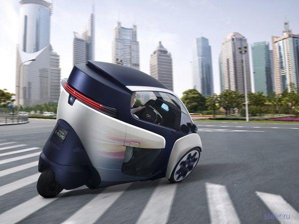 В Женеве представлен Toyota i-Road – маленький и мобильный электромобиль из скорого будущего