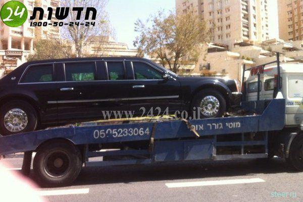 Лимузин Обамы сломался в Израиле