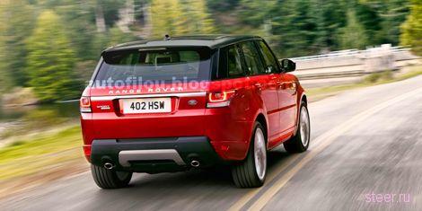 Официальные фотографии нового Range Rover Sport попали в Сеть