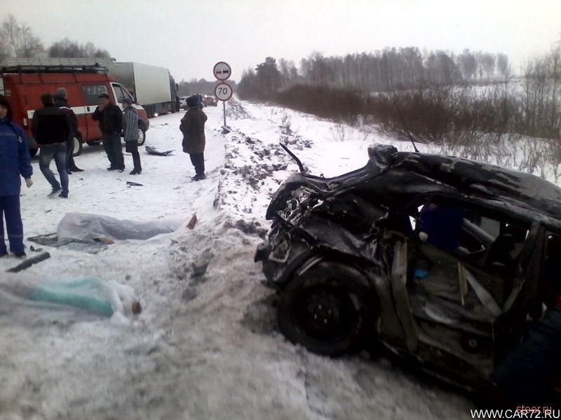 Страшная авария на объездной дороге Тюмень - Боровский