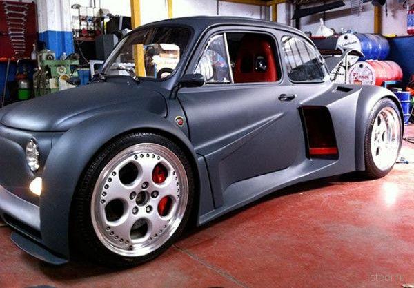 Fiat 500 с двигателем Lamborghini