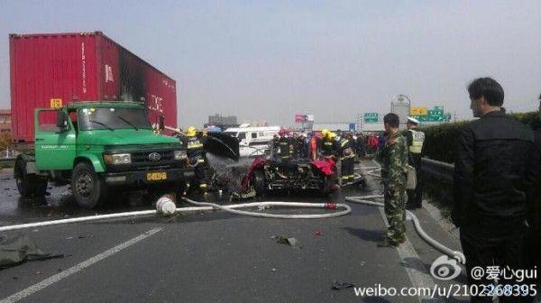 Фатальная авария с суперкаром Ferrari F430 в Китае