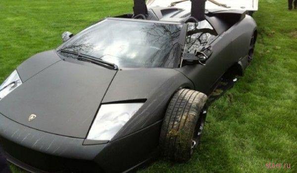 Разбили очередной Lamborghini Murcielago Roadster