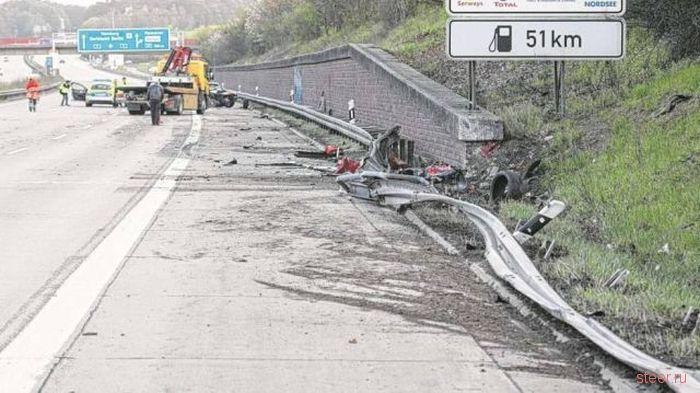 Немец разбил свой Ferrari 430 Scuderia