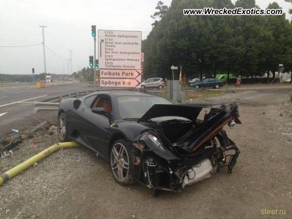 Рецепт аварии: Юный возраст и Ferrari F430