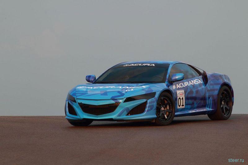 Прототип суперкара Acura NSX показали на трассе в Огайо