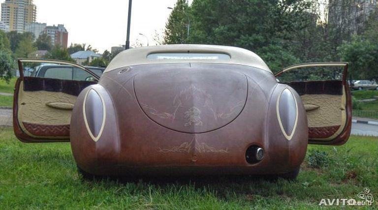 Уникальный автомобиль, покрытый кожей канадского бизона, продается за 88 миллионов рублей