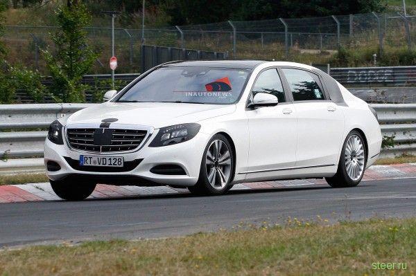 Шпионские фотографии удлиненной версии Mercedes-Benz S-Class