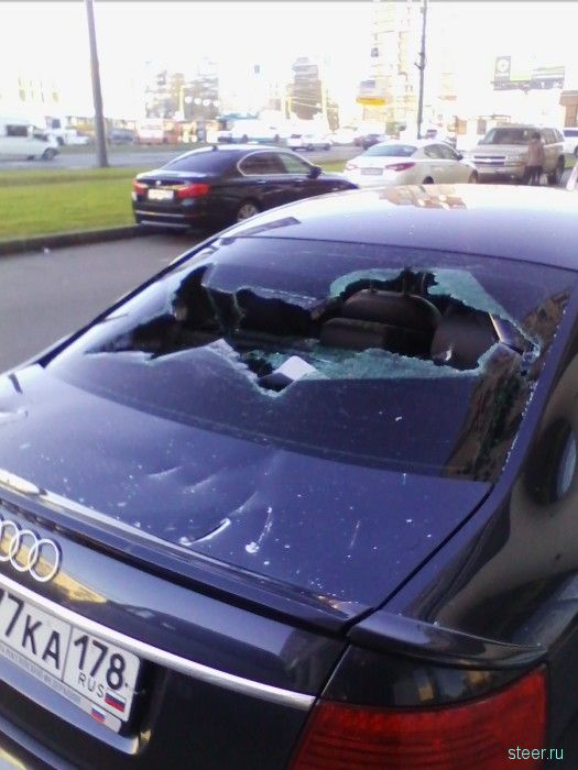 В Петербурге зарубили Audi топором