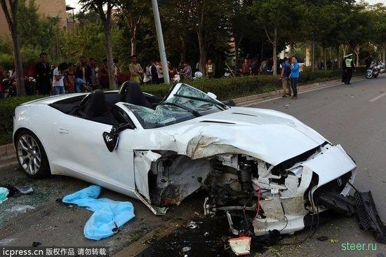 Водитель Jaguar F-Type погиб в результате серьезной аварии в Китае
