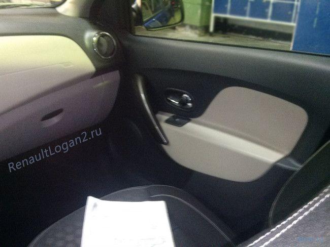 Российские Renault Logan и Sandero: первые фото салона