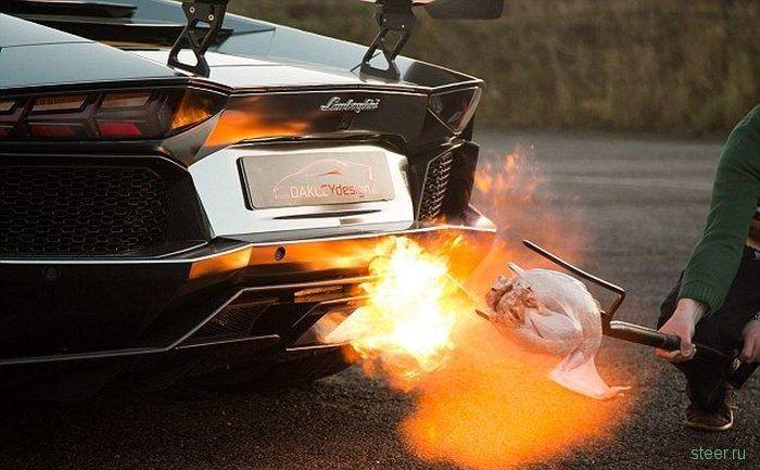 Как приготовить жаренную индейку при помощи Lamborghini