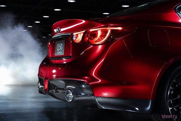 Седан Infiniti Q50 Eau Rouge с духом болида F1