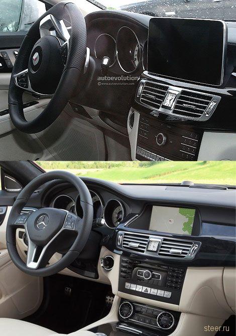 Шпионы сфотографировали салон обновленного Mercedes-Benz CLS