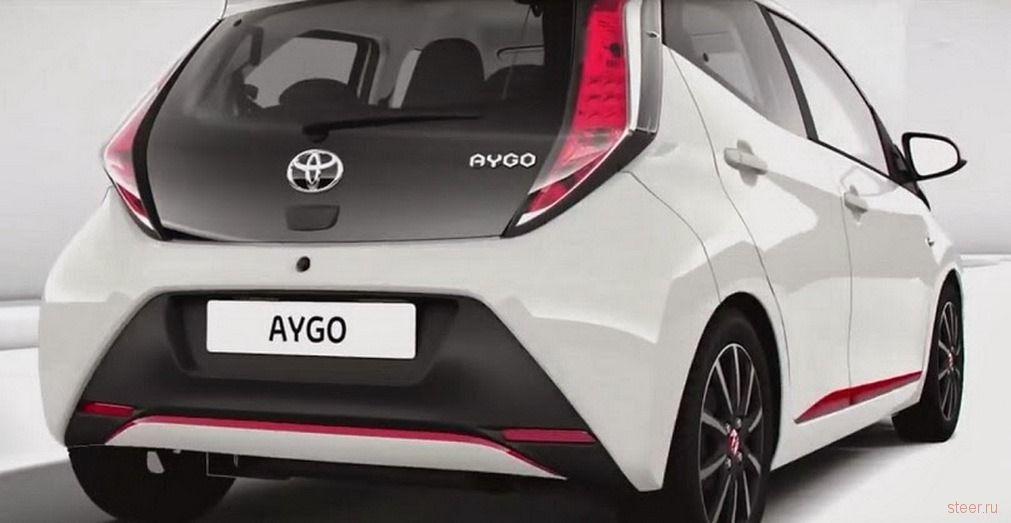 Toyota показала компакт-кар Aygo до премьеры в Женеве