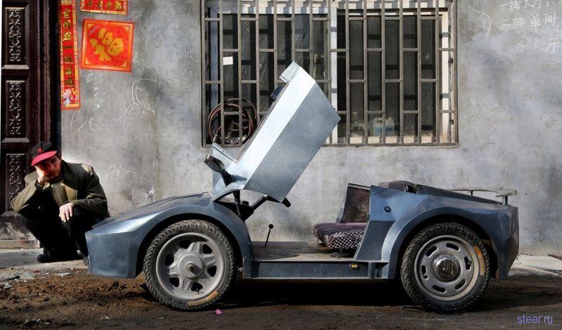 Китаец построил внуку игрушечный Lamborghini на электротяге