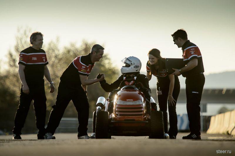 Газонокосилка Honda установила рекорд скорости для книги Гиннеса в 187,6 км/ч