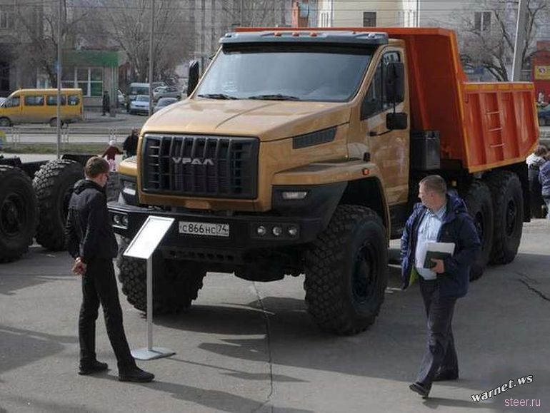 Современный дизайн нового грузовика Урал-NEXT