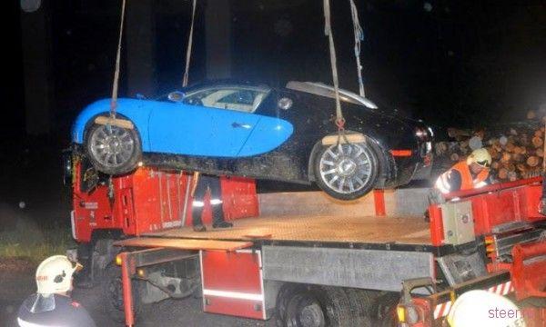 В Австрии разбился очень дорогой Bugatti Veyron