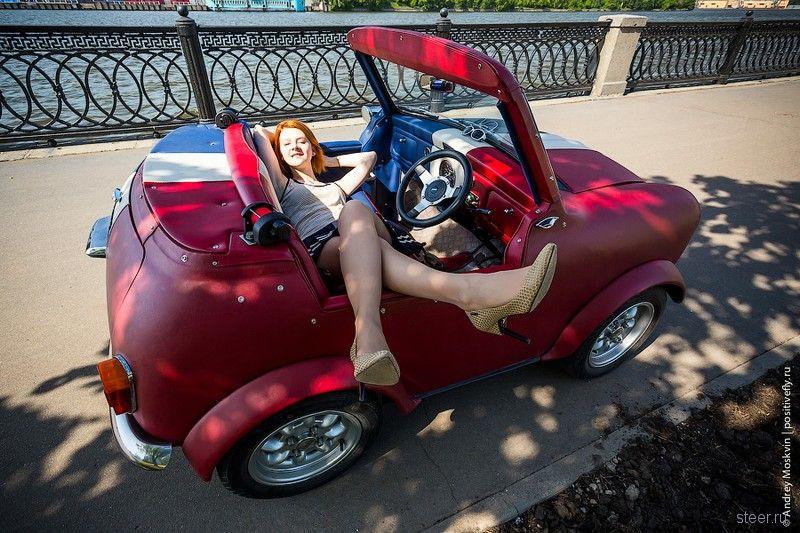 Микро Мини Купер. Тест-драйв женщины в машине. 18+