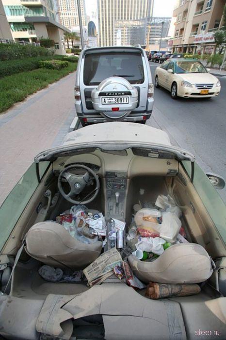 Брошенные авто в Дубаи :  Что для одного мечта, для другого - мусор