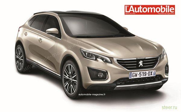 Peugeot анонсирует кроссовер 7008