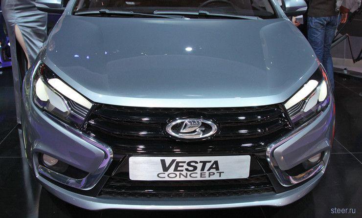 Первые «живые» фото нового флагмана «АвтоВАЗа» Lada Vesta