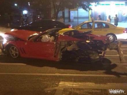 Жесткая авария с очень редким Ferrari 575M Superamerica