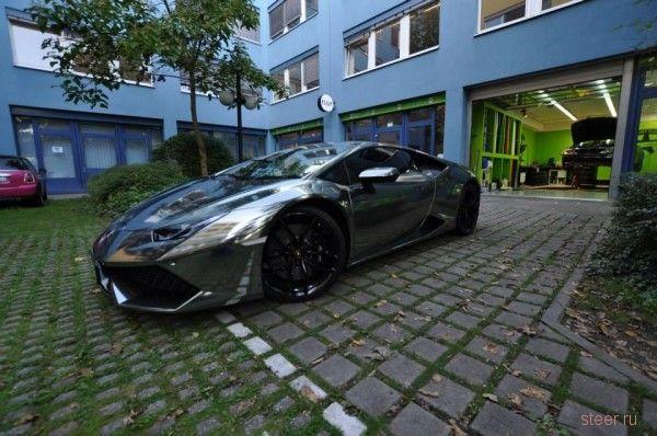 Хромовый Lamborghini Huracan от Print Tech