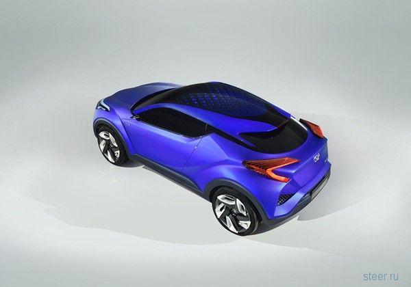 Первые изображения Toyota C-HR : концепта нового кроссовера от Тойота